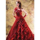 Blackene plesové šaty červeno černé gothic - plesové šaty 9e148c1dd8