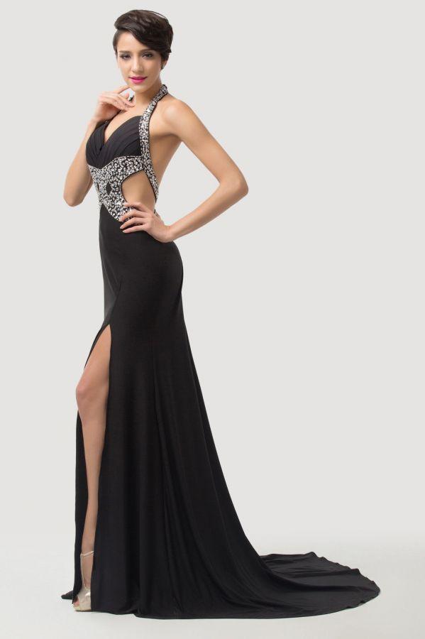 a8d0a5a26654 černé sexy společenské šaty na ples s holými zády. plesové šaty » skladem  plesové » M-L p · plesové šaty » skladem plesové » XS-S p