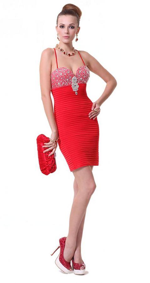 16774b60e6bb společenské šaty » krátké společenské » krátké skladem » krátké červené