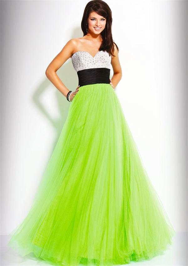 Amazoncom neon green prom dress