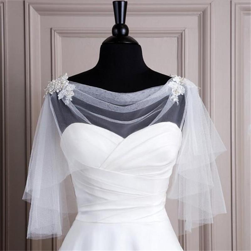 přehoz přes ramena na svatební šaty bílý bolerko šál - plesové šaty ... 754b48ed39