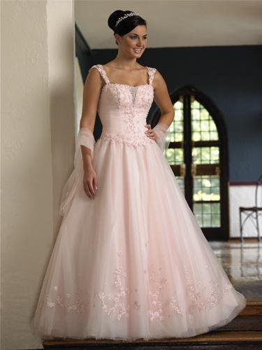 a147f786c8d růžové svatební šaty - plesové šaty